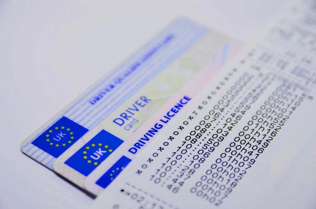 Three different UK driving licences