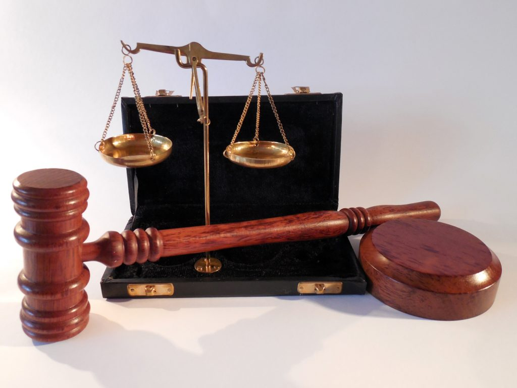 A judge's hammer and scales