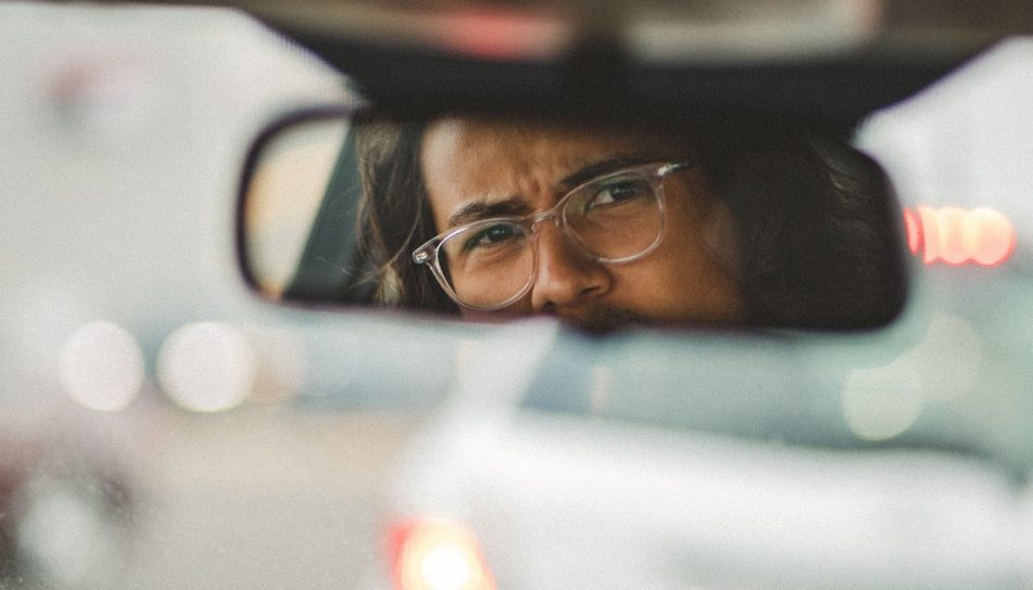 Looking in rearview